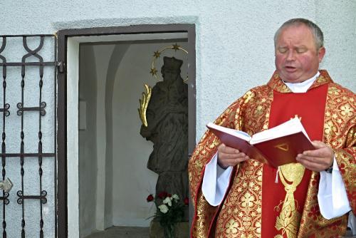 Umístění sochy sv. Jana Nepomuckého